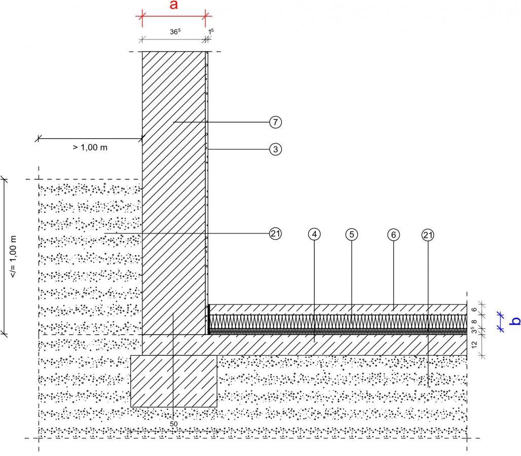 1 1 1 2 kg fundament bodenplatte innenged mmt mauerwerk monolithisch erdreich 1 m. Black Bedroom Furniture Sets. Home Design Ideas