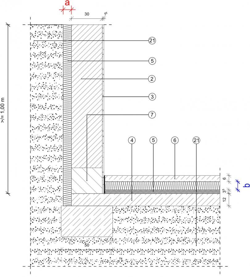 1 1 2 2 kg fundament bodenplatte innenged mmt mauerwerk au enged mmt bei kimmsteinlage. Black Bedroom Furniture Sets. Home Design Ideas