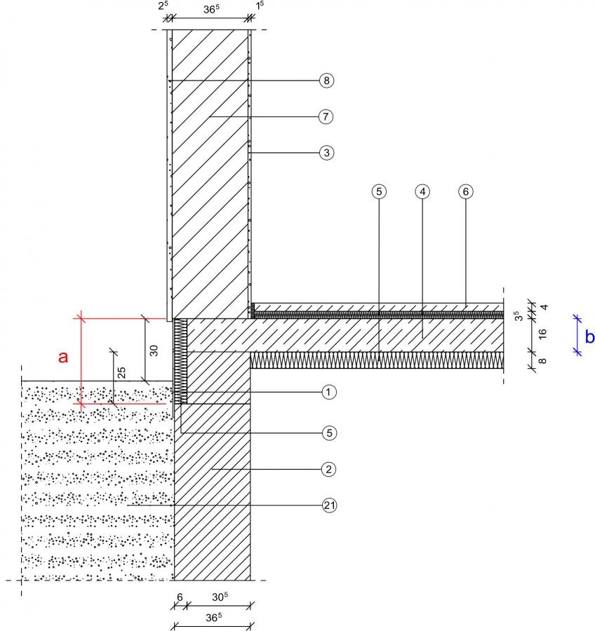 2 2 1 1 sockel unbeheizter keller kellerdecke au enged mmt mauerwerk monolithisch. Black Bedroom Furniture Sets. Home Design Ideas