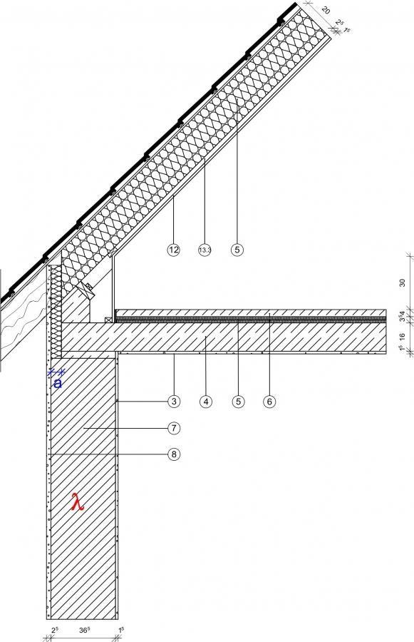 4 2 1 1 traufe sparrendach mit abseite mauerwerk monolithisch. Black Bedroom Furniture Sets. Home Design Ideas