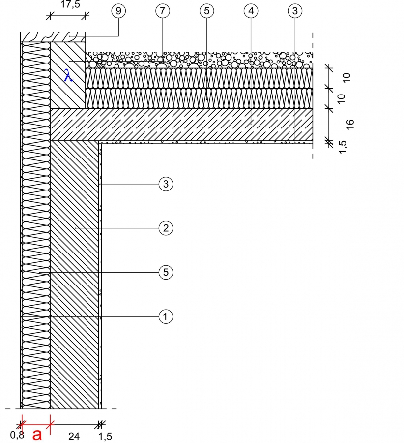 5 1 2 1 attika massivdach mauerwerk au enged mmt. Black Bedroom Furniture Sets. Home Design Ideas