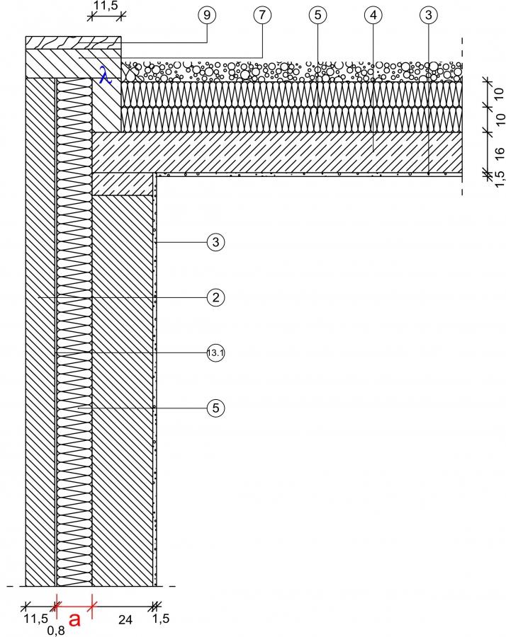 5 1 3 1 attika massivdach mauerwerk kernged mmt. Black Bedroom Furniture Sets. Home Design Ideas