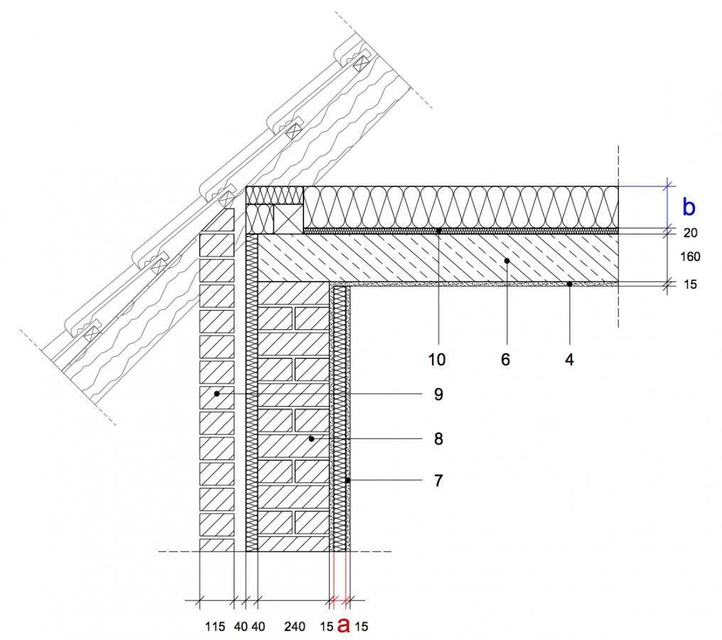 7 6 traufe zweischaliges mauerwerk stahlbetondecke au enged mmt mauerwerk innenged mmt. Black Bedroom Furniture Sets. Home Design Ideas